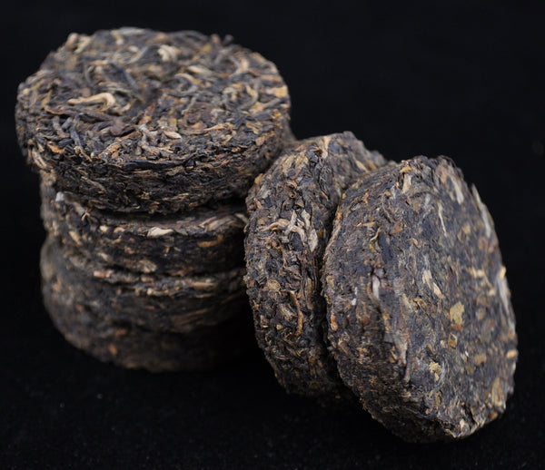 13 Years Aged Bamboo Coin Raw Pu-erh Tea of Dehong