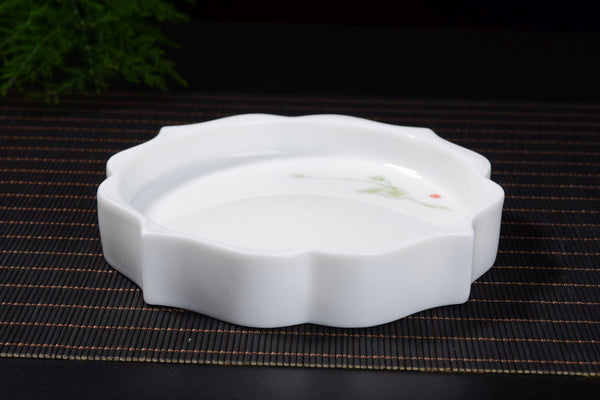 Plum Blossoms Gaiwan and Tea Boat with Optional Matching Cups