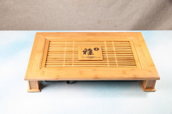 Bamboo Crosscut Style Tea Table with Removable Tray * 45 x 30cm