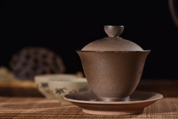 "Jian Shui Wood-Fired Clay ""Cu Tao"" Gaiwan * 175ml"