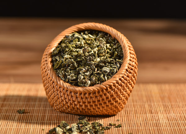 "Certified Organic ""Fancy Grade Bi Luo Chun"" Yunnan Green Tea"