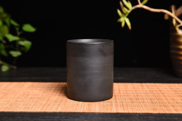 Bamboo Charcoal Pottery Large Cup