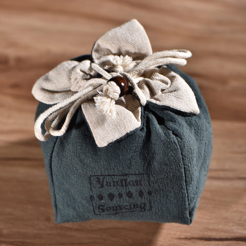 Padded Cotton Teapot Cozy Storage Bag with Yunnan Sourcing Logo