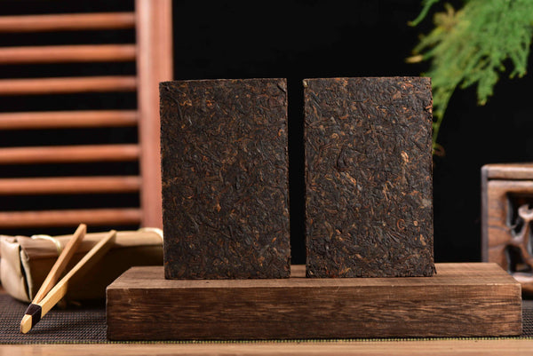 "2010 Menghai ""Bamboo Wrapped"" Ripe Pu-erh Tea Brick"
