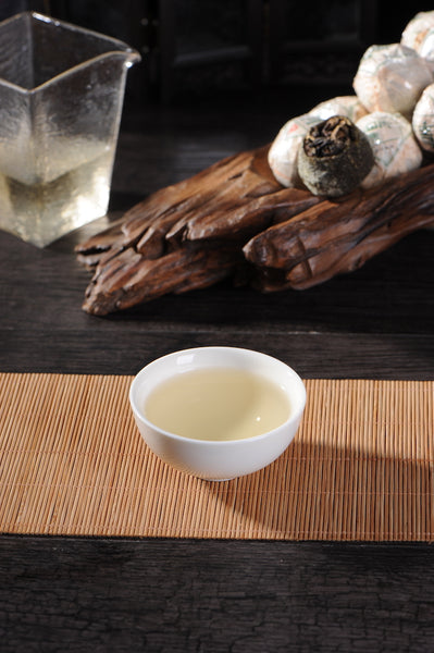 Fuding Shou Mei White Tea in King Orange