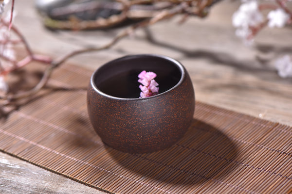 Hei Jin Gang Clay Rounded Cups for Gong Fu Tea * Set of 2