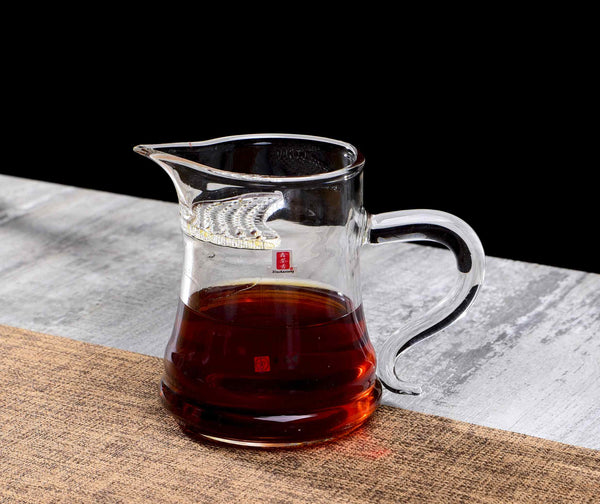 Grandpa Style Glass Cha Hai with Built-In Strainer