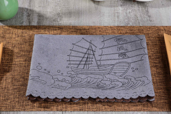 """Smooth Sailing"" Microfiber Extra Large Tea Towel"