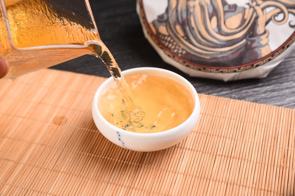 "2018 Yunnan Sourcing ""Autumn Ding Jia Zhai"" Ancient Arbor Raw Pu-erh Tea Cake"