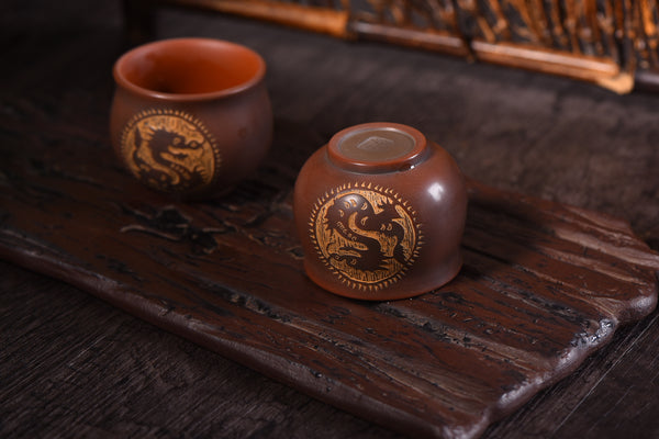 "Qin Zhou Clay Cups ""Dragon"" by Su Gui Fang"