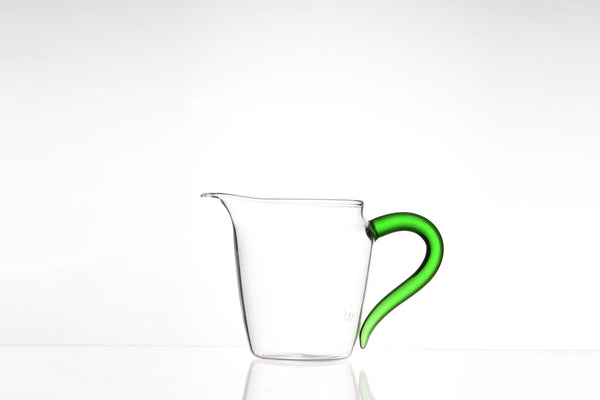 "Green Handled ""Elegance"" Glass Cha Hai"