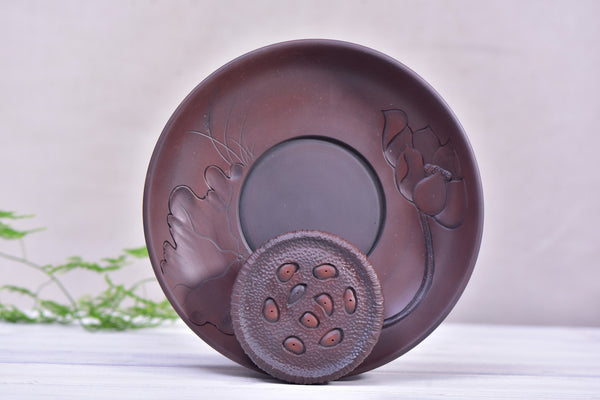 "Jian Shui Clay ""Blooming Lotus"" Tea Boat for Gong Fu Cha Brewing"