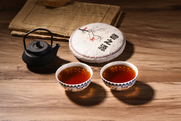 "2016 Yunnan Sourcing ""Golden Needle"" Ripe Pu-erh Tea Cake"