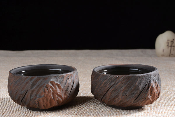 "Jian Shui Clay ""Gnarled Wood"" Dragon Kiln Style Cup"