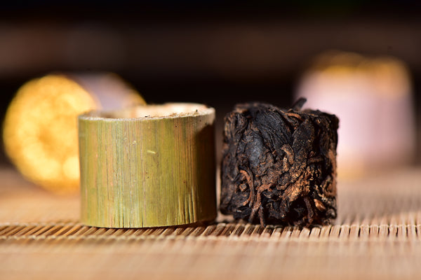 "Mengku ""Ripe Pu-erh Tea"" Roasted in Aromatic Bamboo"