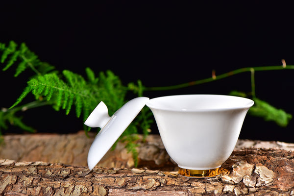Gold on White De Hua Jade Porcelain Gaiwan * 200ml