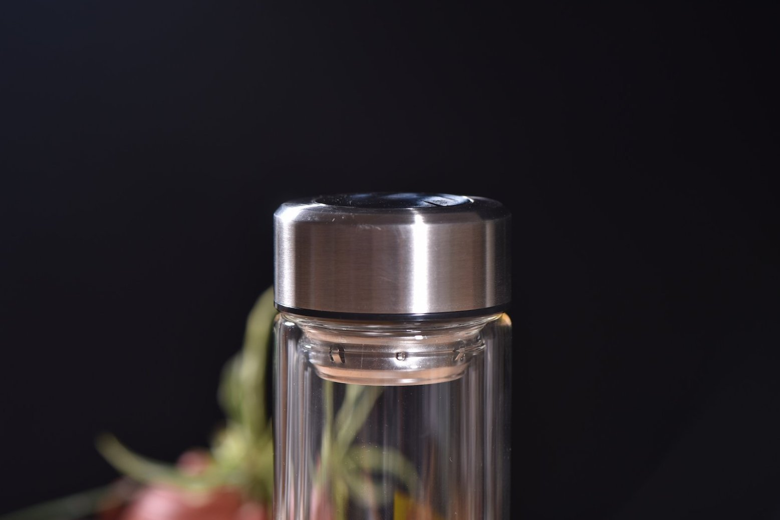 yunnan sourcing logo insulated double layer glass thermos - Glass Thermos