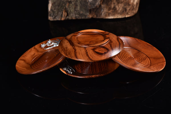 "Fragrant Jatoba ""Orchid"" Coasters * Set of 4"