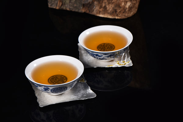 Lotus Motif Hammered Tin Coasters * Set of 2 - Yunnan Sourcing Tea Shop
