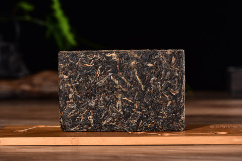 2004 Pasha Mountain Bamboo Leaf Raw Pu-erh Tea Brick