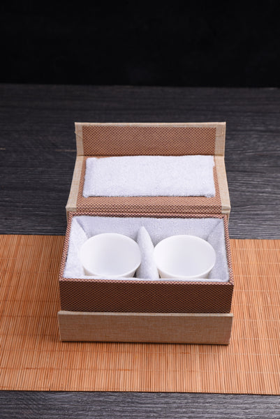 "Jingdezhen ""Bai Ci"" White Jade Cups * Set of 2"