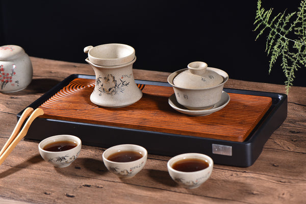"Wenge Wood ""Lines"" Gong Fu Cha Tea Table"