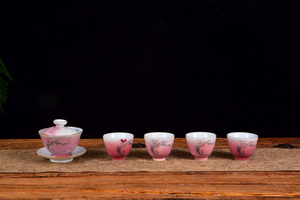 Sunrise Contemplation Gaiwan and Cups Set