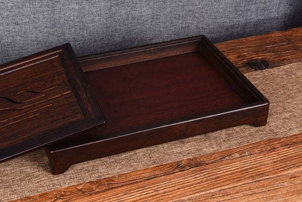 Stained Bamboo Wood Tea Table for Gong Gu Cha