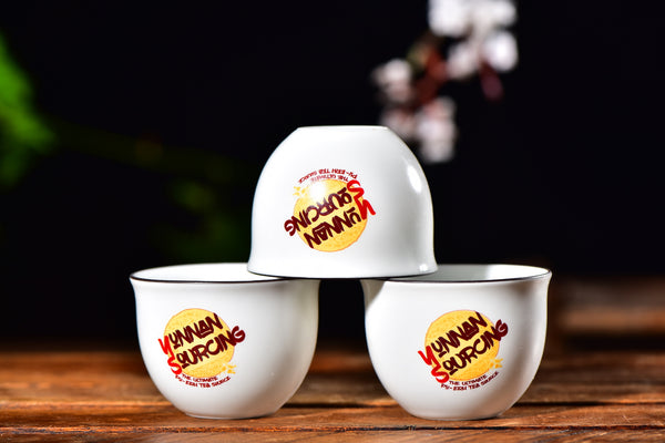 Yunnan Sourcing Branded White Cups * Set of 4