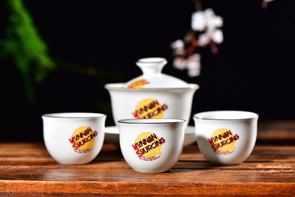 Yunnan Sourcing Branded Gaiwan and Cups Set