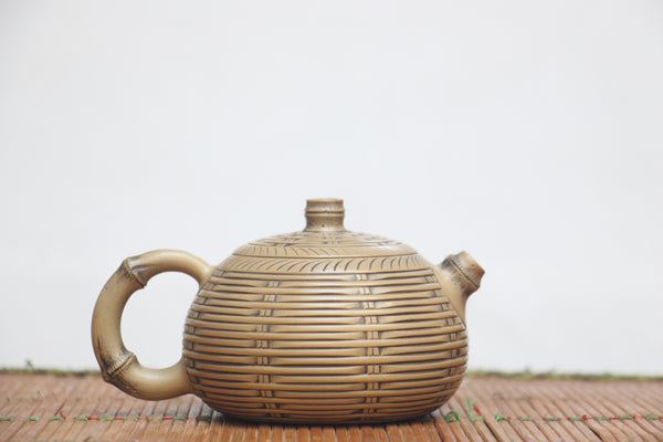 "Jian Shui White Clay ""Bamboo Weaving"" Teapot by Wang Yan Ping"