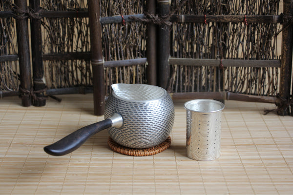 "Pure Silver 990 ""Kyusu Style"" Combination Cha Hai and Teapot * 290ml"