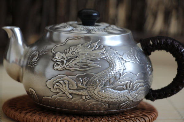 "Pure Silver 999 ""Heavenly Dragon"" Teapot * 200ml"