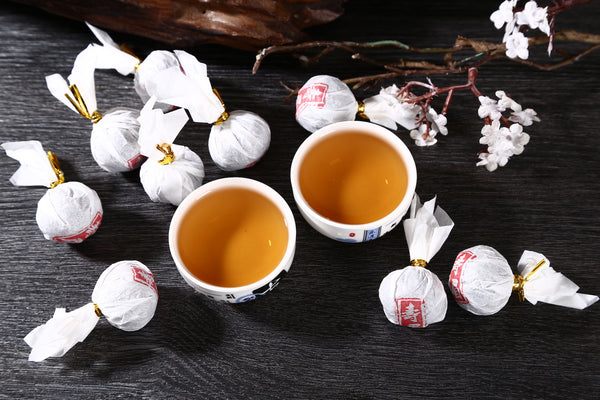 Aged Fuding Shou Mei White Tea Dragon Balls