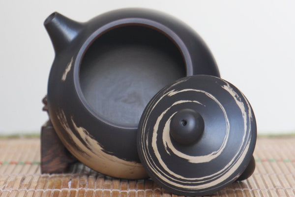 "Jian Shui Clay ""Black and White Swirl "" Xi Shi Teapot by Li Wen Xue * 200ml"