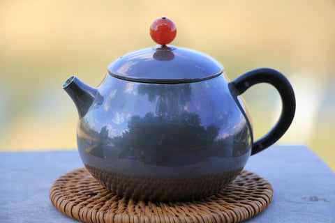 "Pure Silver 999 ""Wooden Handle"" Teapot * 195ml"