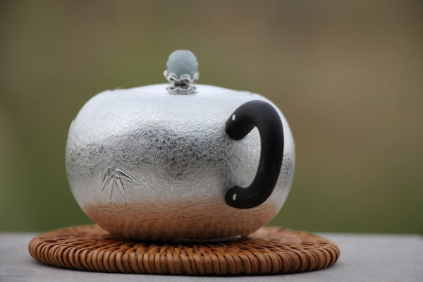 "Pure Silver 999 ""Bamboo Impressions"" Teapot * 120ml"