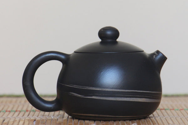 "Jian Shui Clay ""Black and White Swirl #X1"" Xi Shi Teapot by Yao Yun Chao * 170ml"