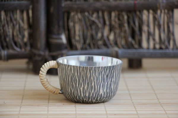 Pure Silver 999 English Style Tea Cup with Handle * 80ml