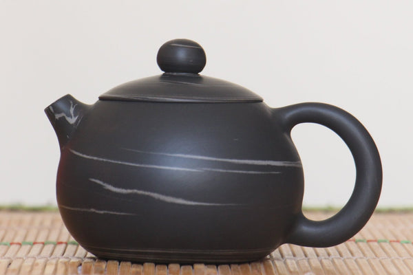 "Jian Shui Clay ""Black and White Swirl #X11"" Xi Shi Teapot by Yao Yun Chao * 170ml"