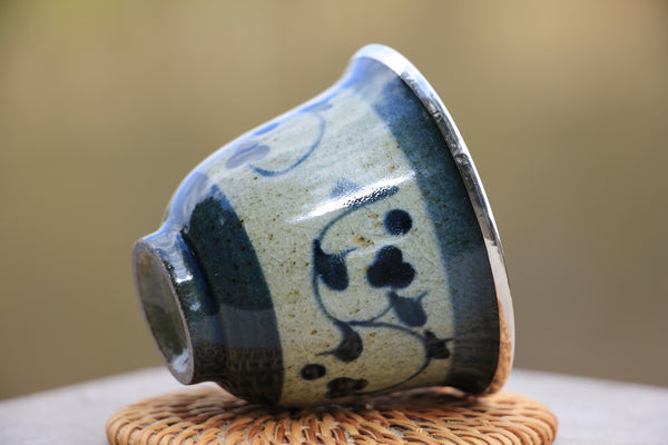 Wood-Fired Kiln Celadon Pure 999 Silver Cup