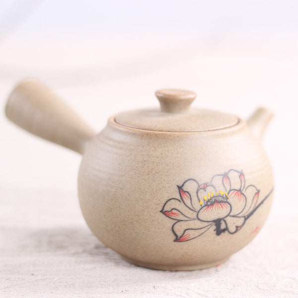 Ceramic Lotus Flower Kyusu Teapot * 220ml