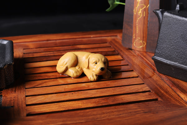 Sweet Baby Dog Clay Mascot Tea Pet