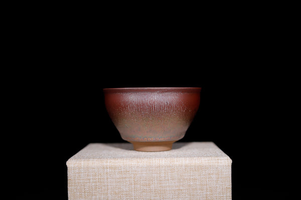 "Jianzhan ""Rainbow on Red"" Hand-Made Stoneware Cup * 80ml"