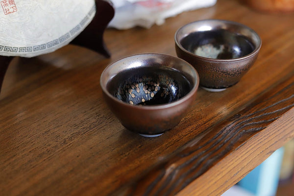 "Jianzhan ""Blue Brown Oil Spot"" Hand-Made Stoneware Cup * 80ml"