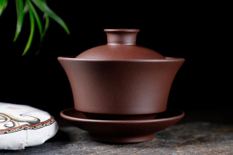 Yixing Zisha Purple Clay Large Gaiwan for Gong Fu Tea