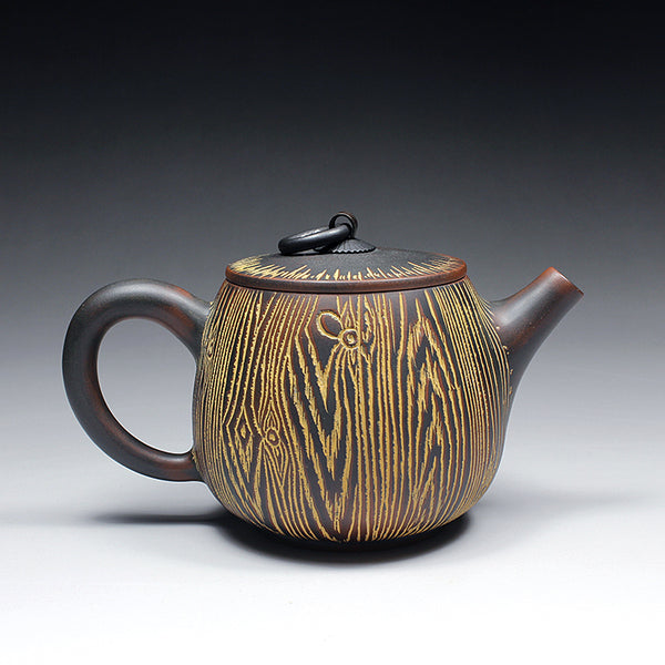 "Qin Zhou Teapot ""Tree Bark Tong Kou""  by Hu Ying Jia * 230ml"