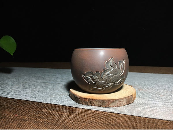 "Qin Zhou Clay Cups ""Lotus 2#"" by Huang Qing Jian"