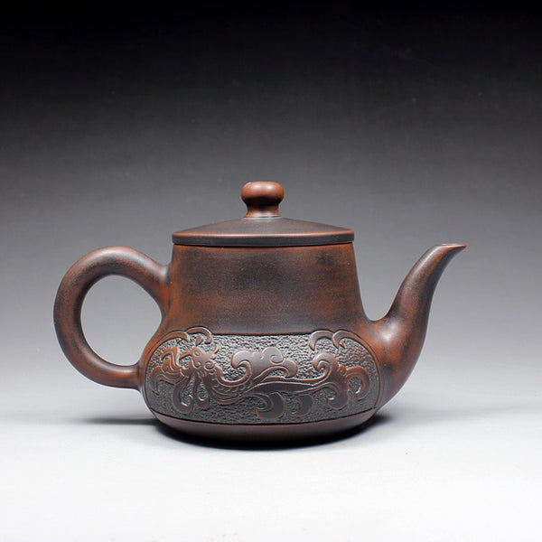 "Qin Zhou Clay Teapot ""Dragon and Phoenix"" by Hu Ying Hou"