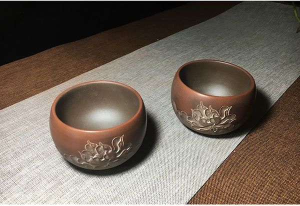 "Qin Zhou Clay Cups ""Lotus"" by Xia Chuang De"